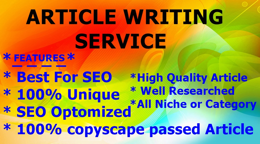 500+ Words Article Writing-Content Writing-Blog Writing - Top service