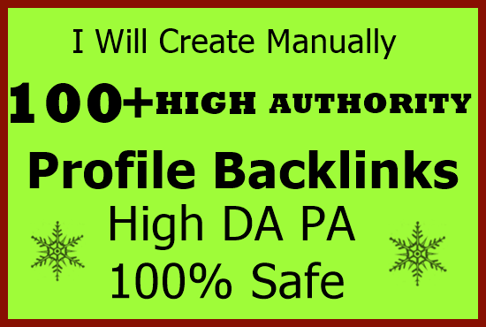 Push Your Site Into Google 1st page With High DA Profile Backlinks GUARANTEED