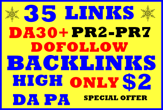 35 DOFOLLOW High PR2-PR7 or DA30+ Highly Authorized G...