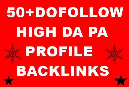 Create 50+ Dofollow profile Backlinks Manually