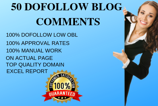 50 high quality dofollow blog comments backlinks