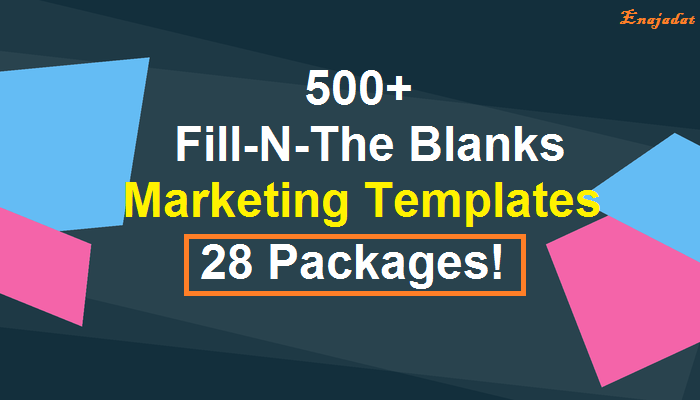 Give 28 Fill In The Blanks Marketing Templates Packages