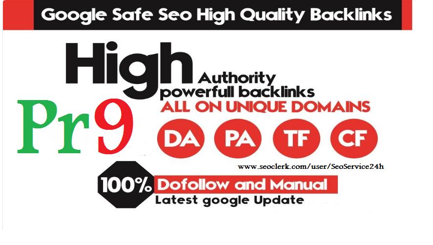 Provide You 50 USA & UK PR9 SEO High Authority Manual Backlinks