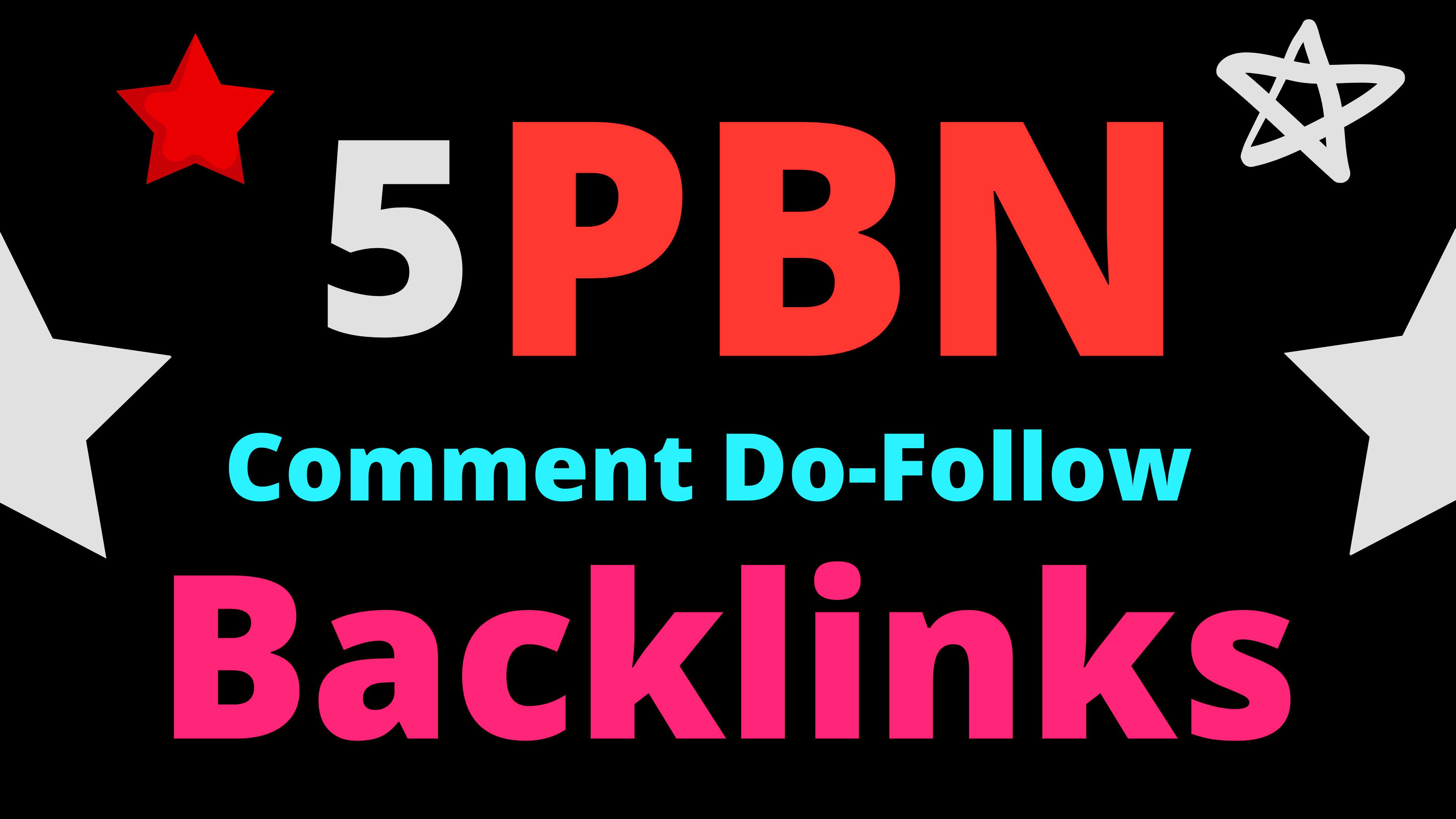 5 HomePage PBN Backlinks All Dofollow High Quality Backlinks
