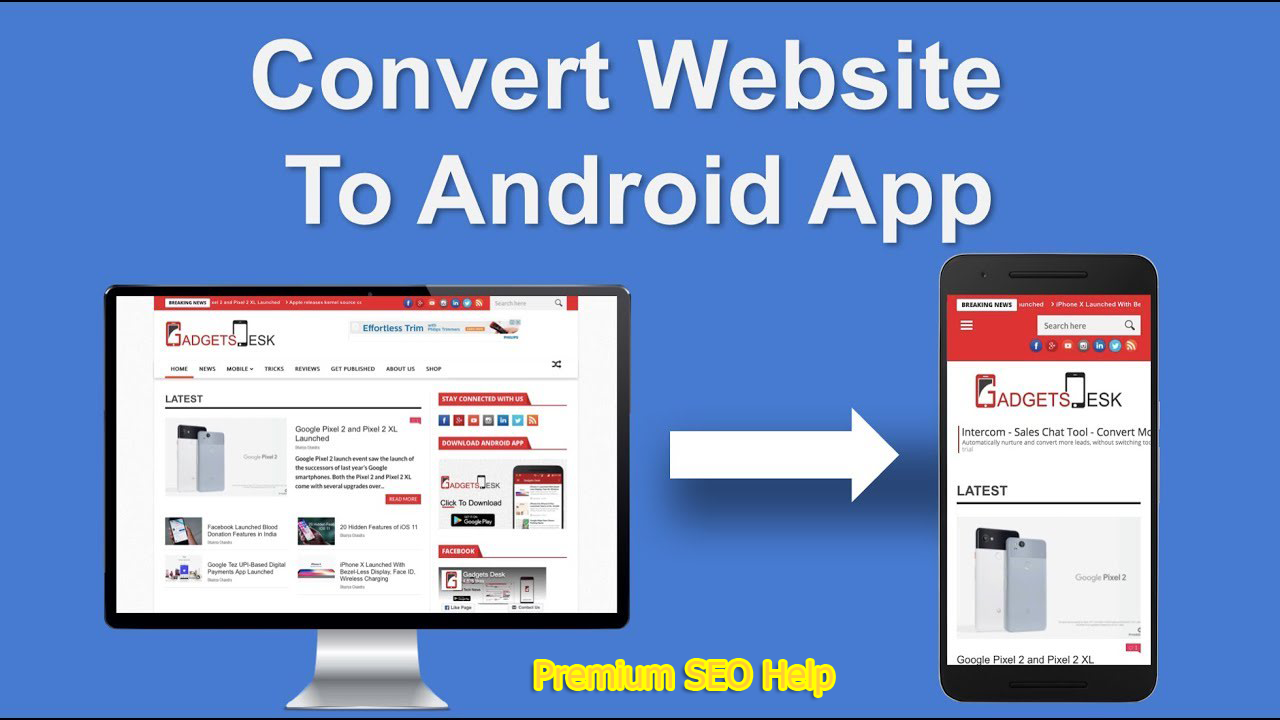 Convert any blog,  eCommerce website,  Facebook page,  sale page to an android app - Make money Extra