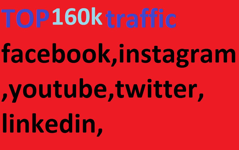 160k, boost website keyword real organic targeted web traffic,  facebook,  instagram,  youtube,  twitter