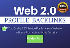 I Will Create 200 Web 2.0 Profile Backlinks With High DA and Alexa Rank 2019