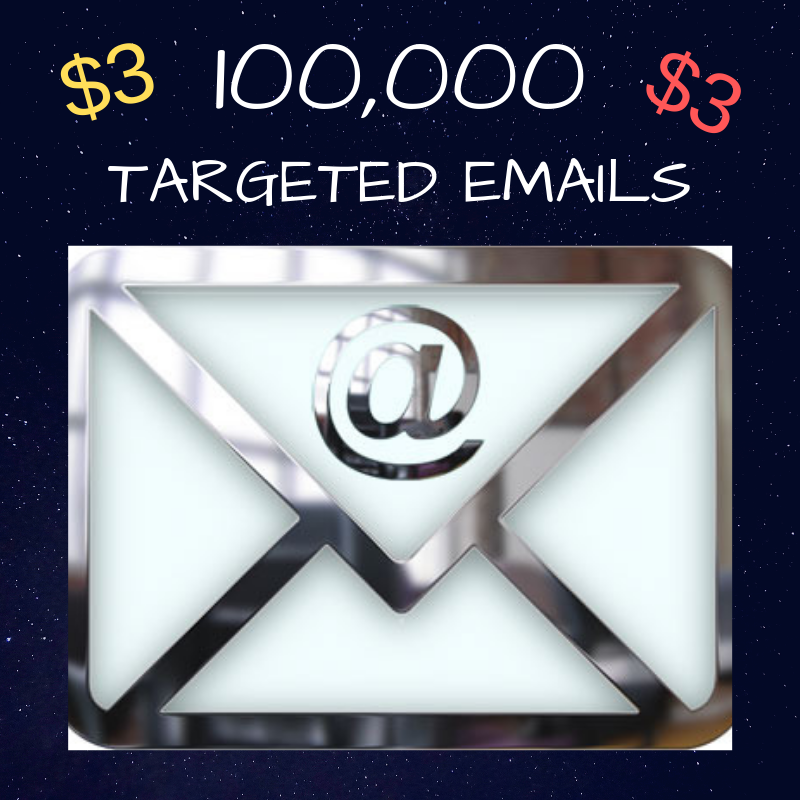 100,000 targeted emails scraped the same day as you o...