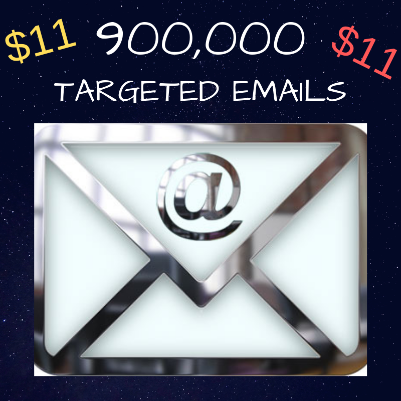 Best Deal Online! 900k Keyword Targeted Emails