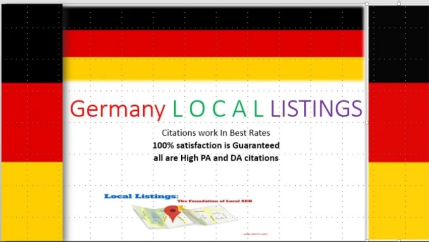 I will do 32 germany local citations for your business