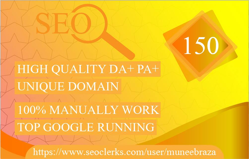 provide 150 Manual Blog Comments Backlinks High Da, Pa,  only for 4