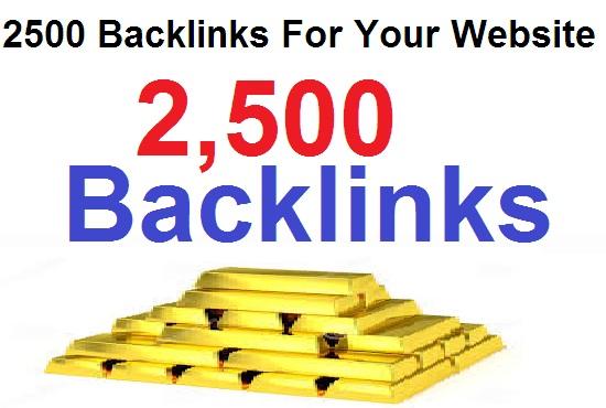 2500 Permanent Backlinks For your website