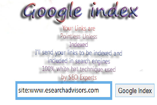 I Will Index Your 100 Links In Google