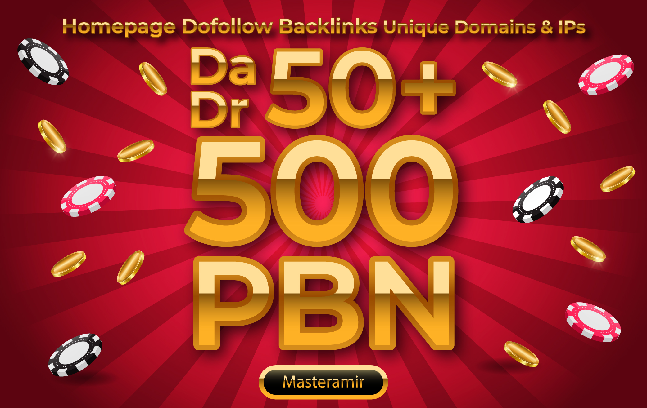 PBN DA & DR 50+ Homepage DoFollow Links for Casino,  Poker,  Gambling,  & Betting