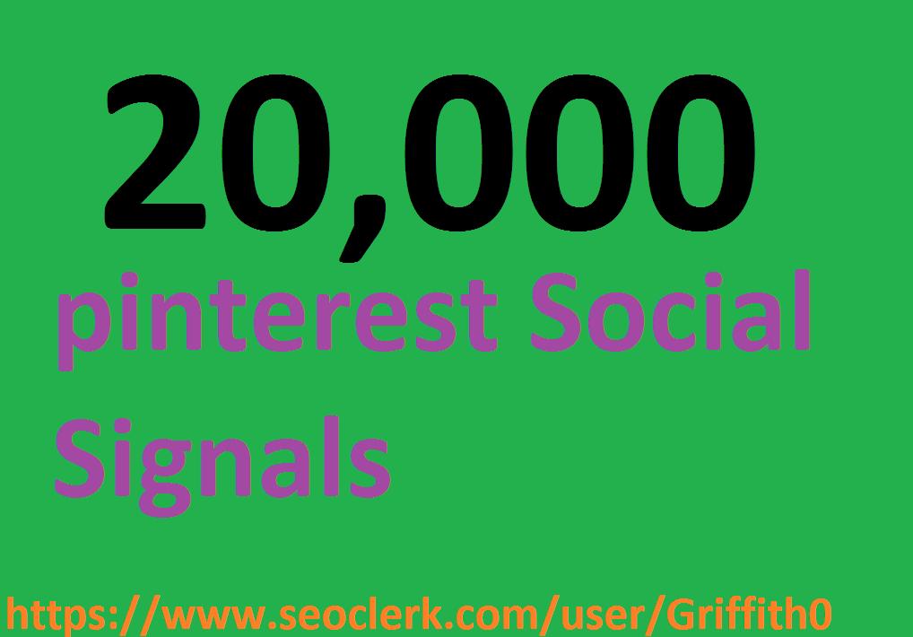 Limited Offer 20,000 PR9 PiNTEREST Social Signals