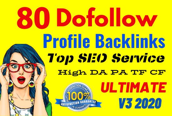 Manually Create 80 Profile Backlinks On High PR,Da Sites And SEO Audit