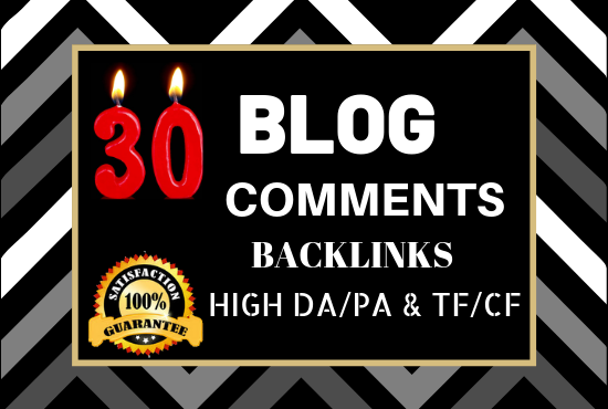 Do 30 Unique Domain Niche Related Blog Comments Backlinks High DA PA