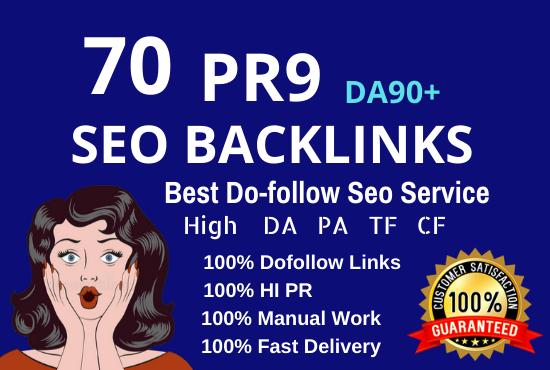 Create 70 Pr9 Da 90 High Authority Dofollow Profile Backlinks