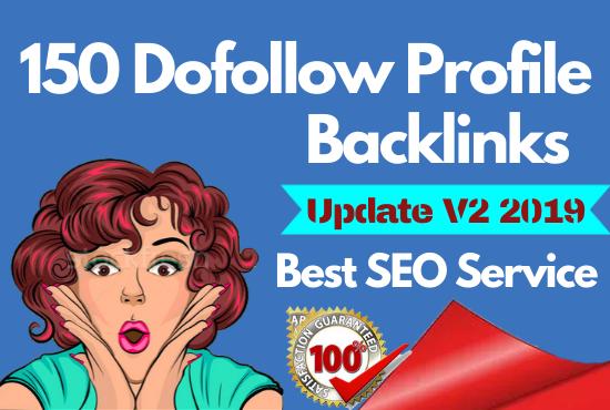 Manually Create 150 pr9 DA 90 Dofollow Profile Backlinks