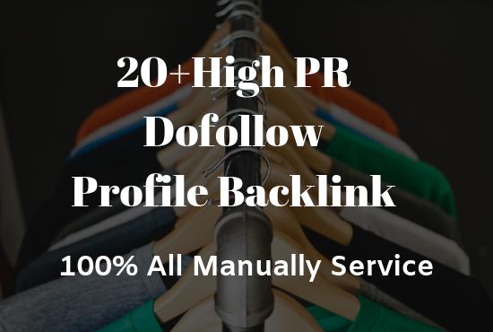 Manually Create 20+ Dofollow Profile Backlinks