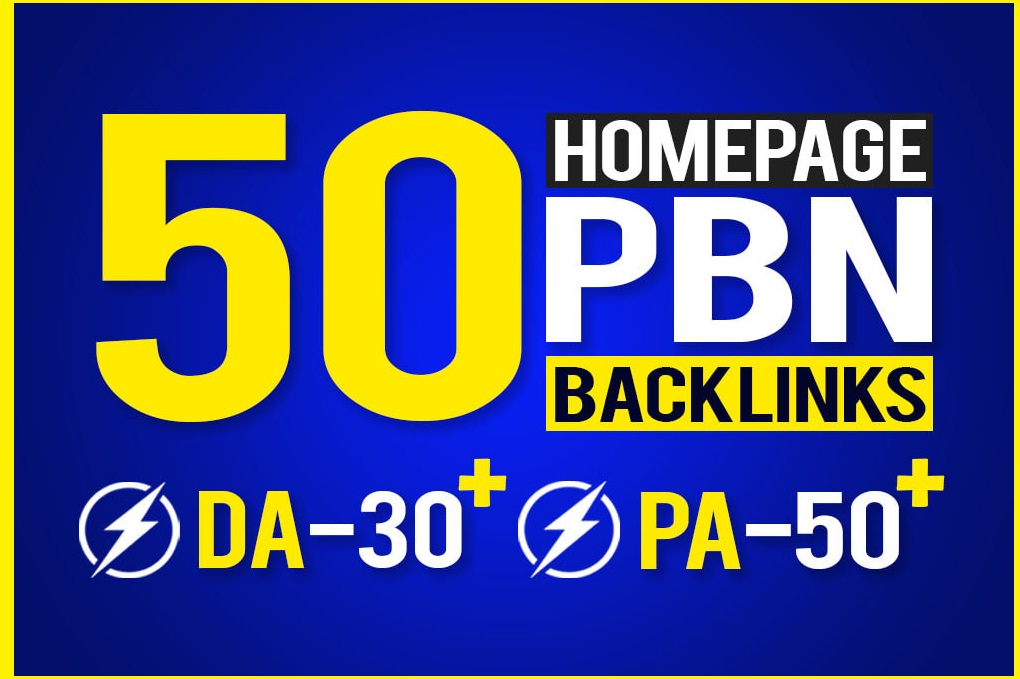 I will Make 50 PBN Backlinks With High Quality DA Fast Ranking