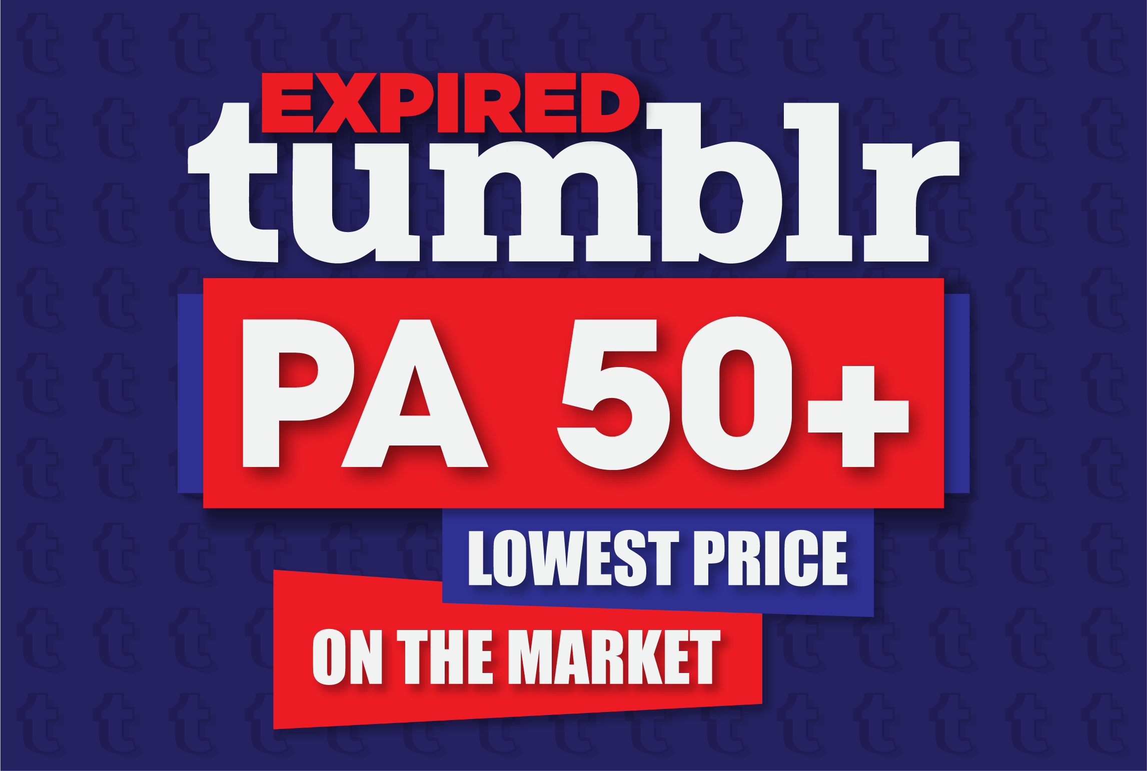 20 expired PA50+ Tumblr blogs with 1000+ backlinks