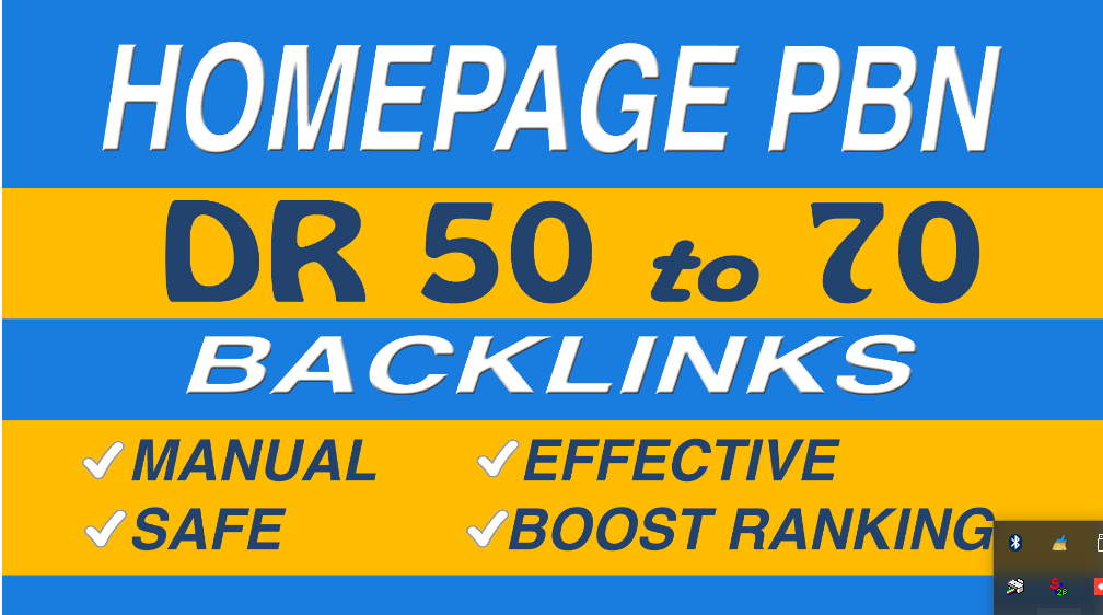 Make 70 DR 50 to 70 homepage pbn backlinks