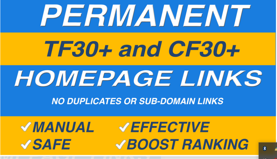 Order do high tf cf permanent homepage pbn backlinks