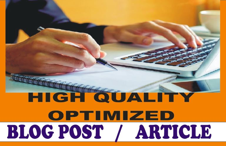 I will write High SEO Optimized Articles and Blogs on any Topic