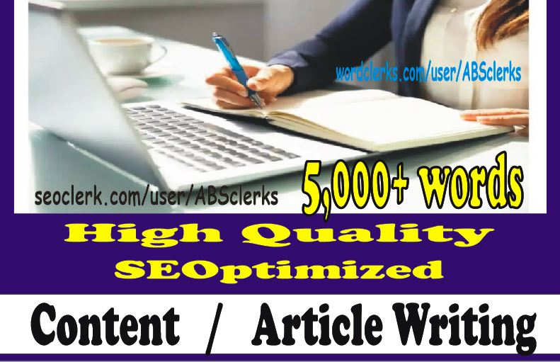 10X 500+ words Perfect ARTICLE Writing or WEBSITE Content writing for SEOptimization