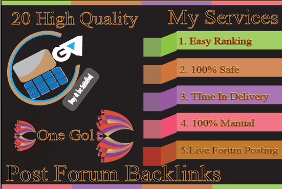 Do HQ 20 Forum Posting Backlink For Easy Ranking Your Site