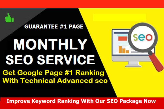 I will provide monthly SEO service, for website traffic and google ranking