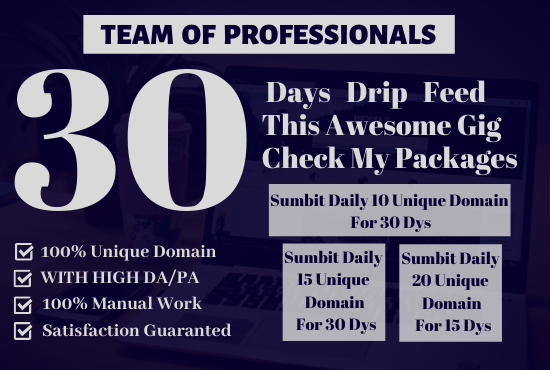 I Will 30 Days Drip Feed 10 Unique Domain Seo High Quality Backlinks Blog Comment