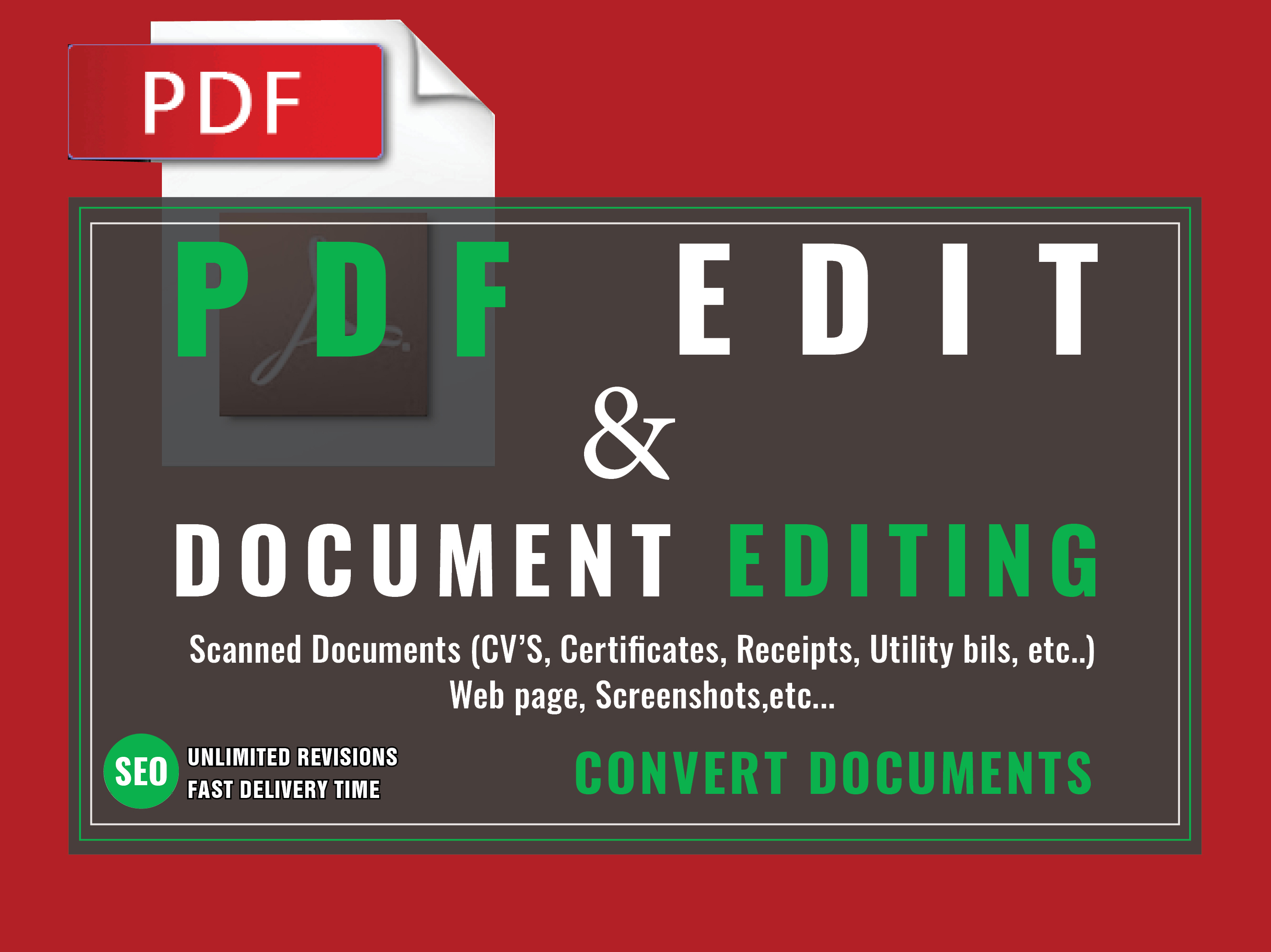 edit PDF ,any other type of document and Convert PDF