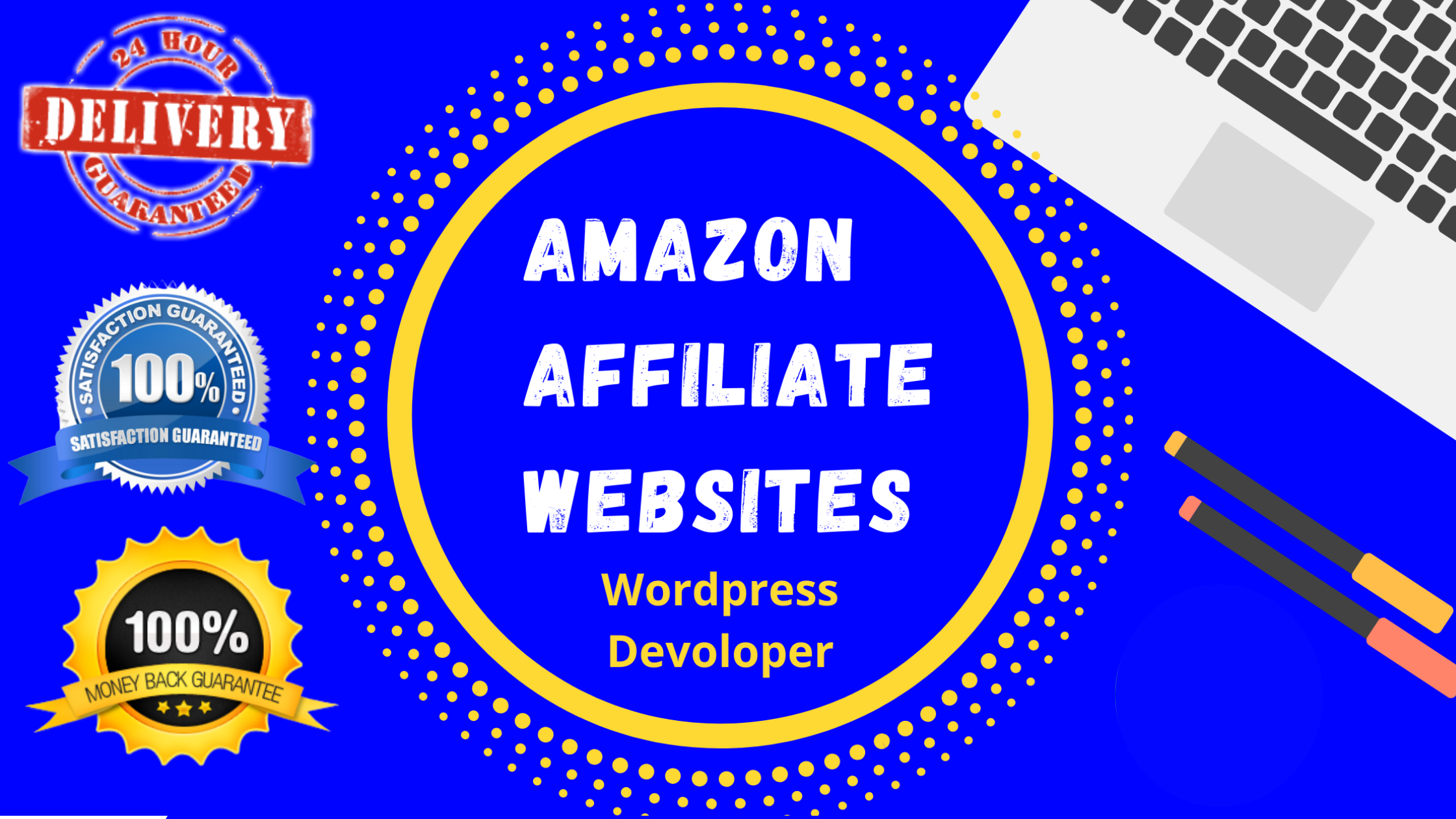 I will create amazon affiliate website without API key