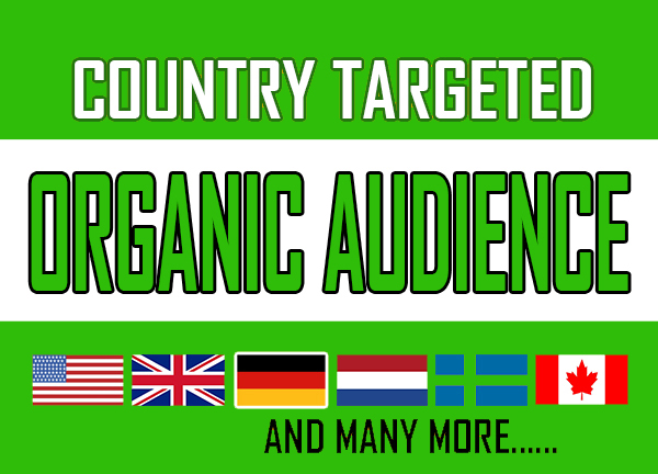 COUNTRY TARGETED Streams from USA or UK or CANADA NETHERLAND GERMANY SWEDEN through offsite seo