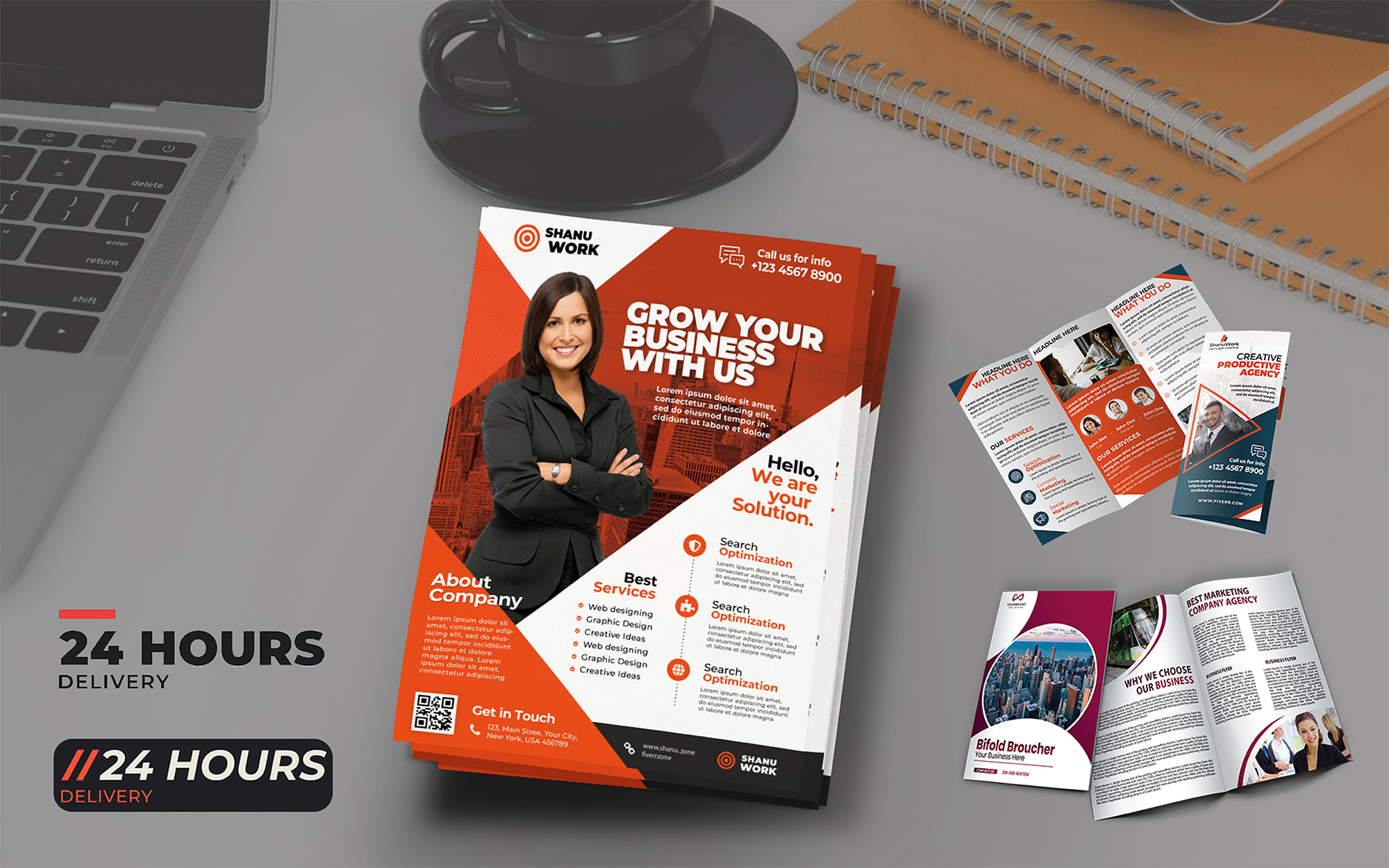 Looking for amazing WOW BROCHURE,  FLYER I will design it
