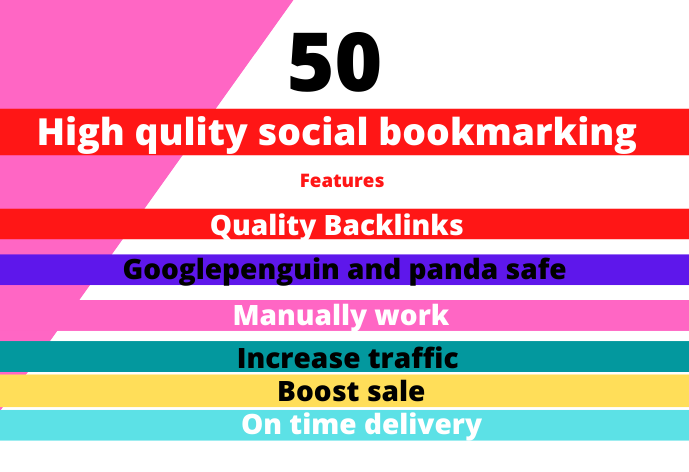 MANUALLY Bookmark your site to TOP 50 Social bookmarking sites