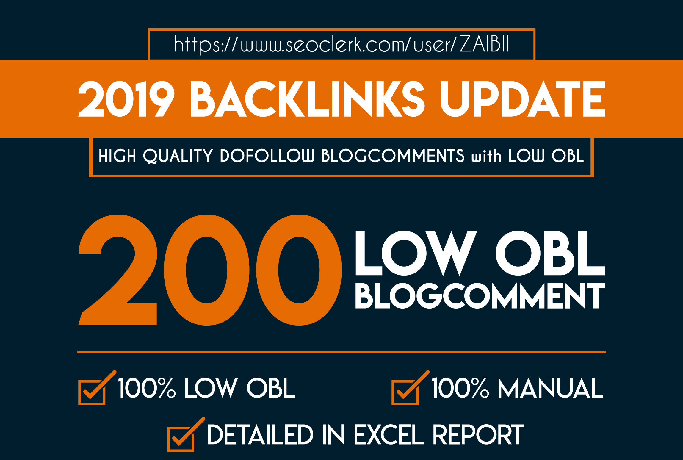 2019 Updated Backlinks High quality Dofollow Blogcomments with LOW OBL