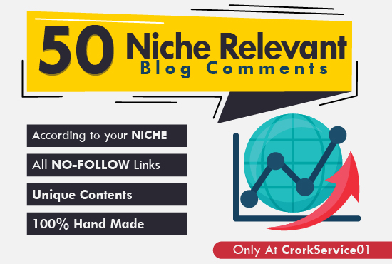 Provide 50 High Quality Niche Blog Comments With Low OBL