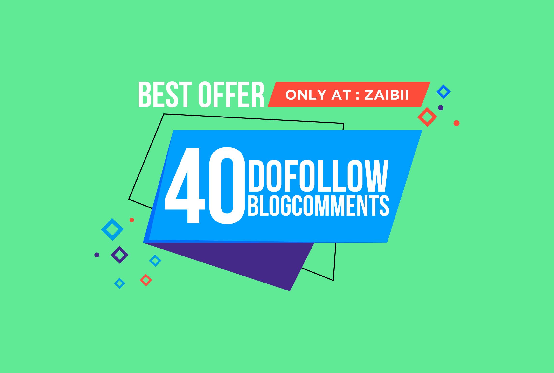 40 manual Dofollow Blogcomment on High DA PA Backlinks