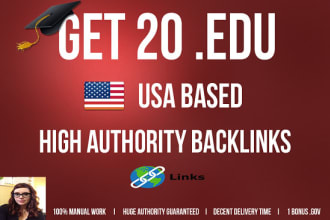 Build 20 EDU AND GOV UDINIQUE DOMAIN DA70 google indexed backlink