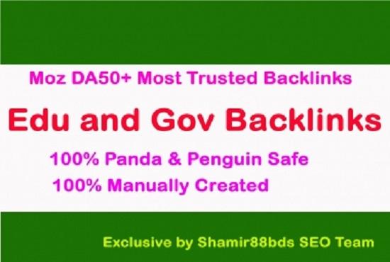 i build 25 edu and gov high quality seo backlink dofollow