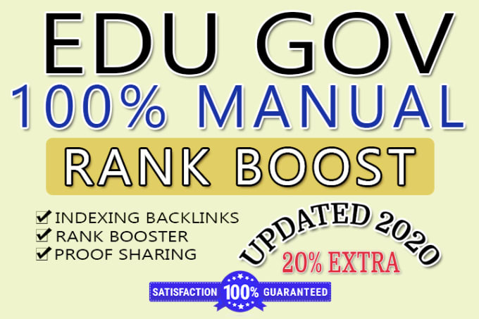 create manually 100 EDU AND GOV Trusted Dofollow high quality Da backlink