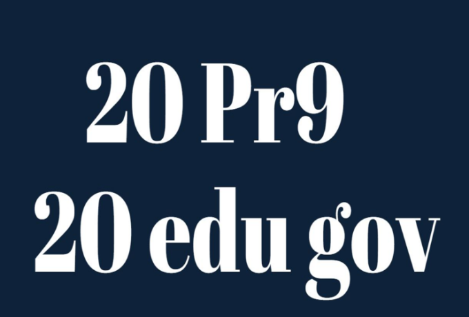 manually create 20 edu and gov pr9 20 dofollow powerful seo friendly backlink