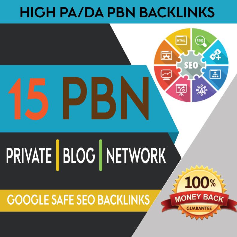 Build 15 High PA DA TF CF PBN Backlinks