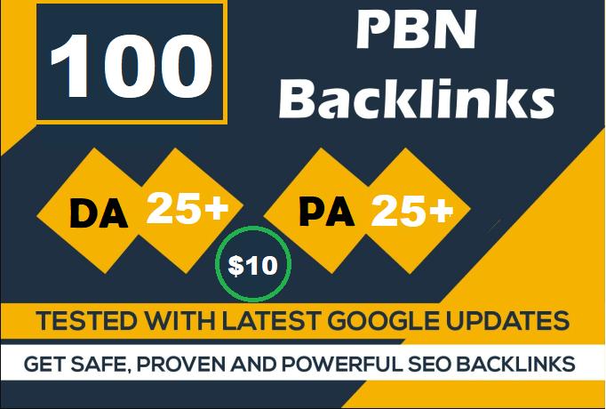 100 Website PBN Dofollow Backlinks google index site