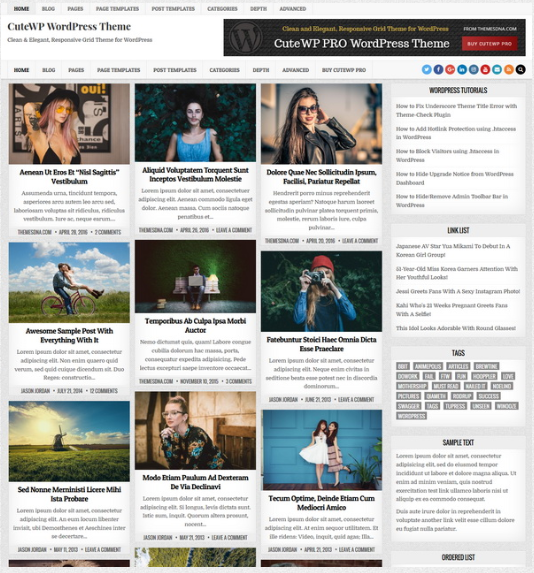 CuteWP WordPress Theme All our WordPress themes are released under 100 GPL license