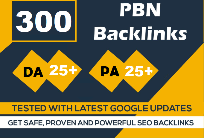 300 Website PBN Dofollow Backlinks index on google