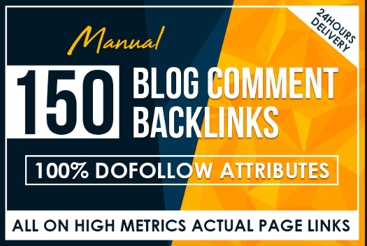 150 blog comments Dofollow backlinks in cheap prices